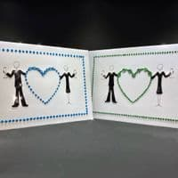 Couple Holding Bling Heart: Choose Your Colour